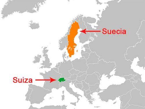 Quelle est la difference entre Switzerland et Sweden