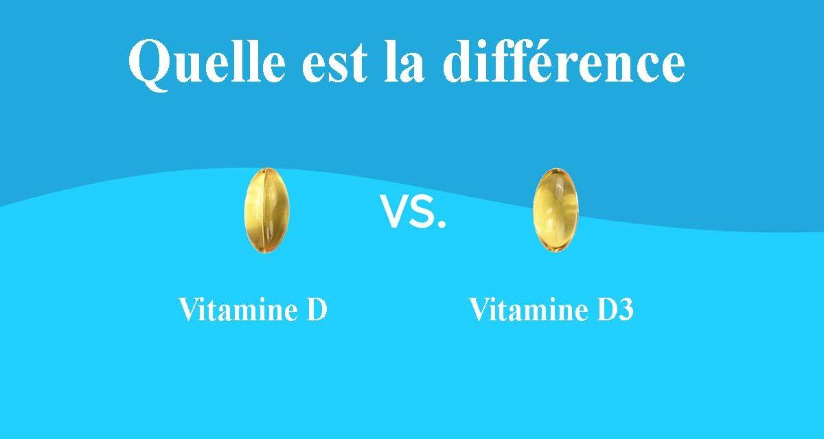 Quelle est la différence entre la vitamine D et la D3