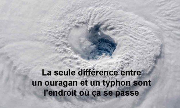 Quelle est la différence entre un typhon et un ouragan